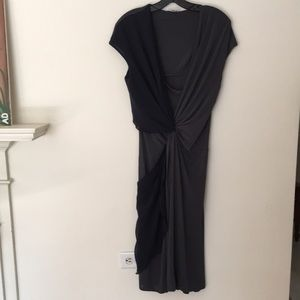 MaxMara Made In Italy  Two Toned Twist Dress